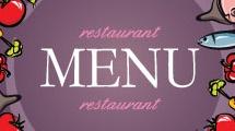 Menú para restaurante