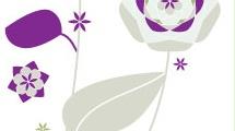 Set con flores abstractas
