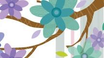 Vector floral decorativo