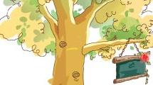 Árbol con cartel