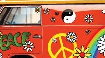 Camioneta flower power