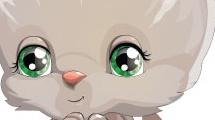 Caricatura de gatito