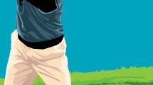 Jugando golf