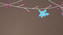 Motivo floral horizontal