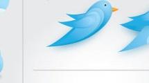 Pájaros azules de twitter