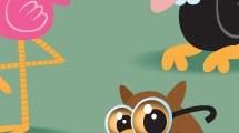Set con dibujos de animales