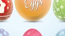 Set con huevos de pascua
