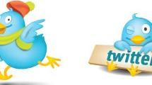 Set con iconos de twitter