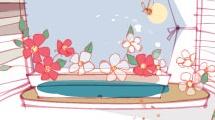 Ventanal con flores