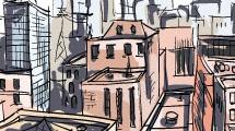Vista aérea de ciudad