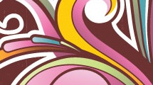 Banner abstracto floral