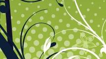 Banner decorativo verde