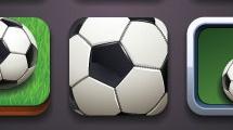 Botones sobre fútbol