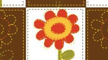 Cuadrícula con flores