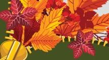 Fondo decorativo de otoño