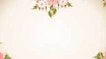 Fondo romántico  con flores