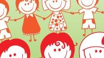 Niños y niñas de la mano