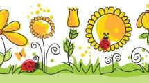 Patrón decorativo con flores
