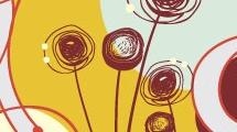 Dibujo con flores