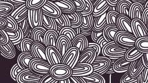 Flores con dibujos hechos a mano