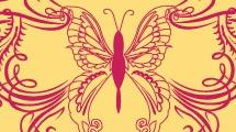 Mariposa y golondrinas