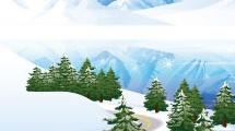 Paisaje con montañas nevadas