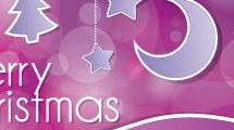 Tarjeta de navidad con pespuntes
