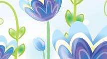 Flores azuladas