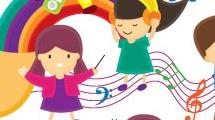 Niños y música