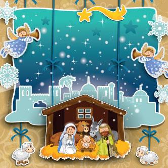 1fb67516ca2 Vector gratis de Navidad con pesebre