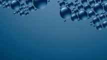 Gotas sobre azul
