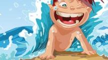 Niño en el mar