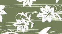 Vector con hojas y flores