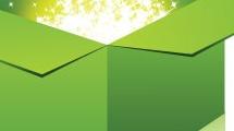 Caja verde con brillos