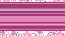 Flores y líneas horizontales