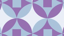 Fondo  circular geométrico