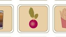 Iconos sobre alimentación