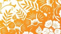 Ilustración con flores y mariposas