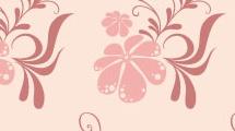 Patrón con flores rosas