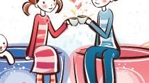 Compartiendo un café