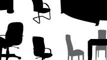 Set con muebles de oficina