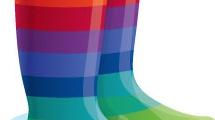 Botas multicolores