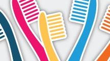 Cepillos de dientes multicolores