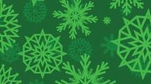 Copos de nieve verdes