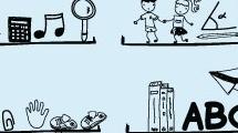 Estantes con objetos infantiles