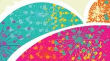 Paloma de la paz multicolor