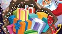 Papá Noel llevando regalos