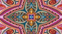 Patrón decorativo multicolor