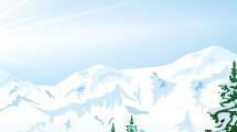 Pinos y nieve
