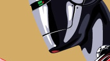 Robot femenino de perfil